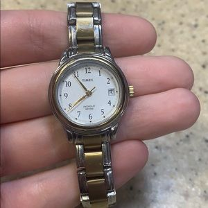 Timex CR1216 Cell Gold Wrist Watch